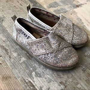 Sparkly slip on toddler shoes size 7